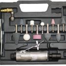 пневматическая прямая шлифмашина в кейсе + набор насадок - ЛАЗ (Алмазинструмент) НГ-907