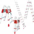 лестница двухсекционная универсальная телескопическая - INTERTOOL LT-3039