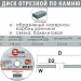 диск отрезной абразивный по камню - INTERTOOL CT-5002